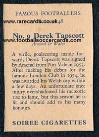 1958 Soiree Tapscott Arsenal Cardiff
